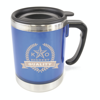 Matisse 400Ml Double Walled Cylindrical Travel Mug in blue