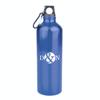 Kennedy 1 Litre Aluminium Sports Bottle in blue