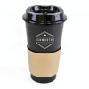 Cafe 500Ml Plastic Single Walled Take Out Style Coffee Mug in black