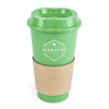 Cafe 500Ml Plastic Single Walled Take Out Style Coffee Mug in green