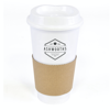 Cafe 500Ml Plastic Single Walled Take Out Style Coffee Mug in white