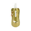 Metallic fold up bottle in gold