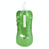 Metallic fold up bottle in green