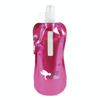 Metallic fold up bottle in pink