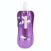 Metallic fold up bottle in purple
