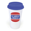 Plastic Take Out Mug in blue