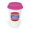 Plastic Take Out Mug in pink