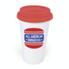 Plastic Take Out Mug in red