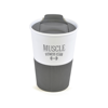 Rubber Base Plastic Take Out Mugs in grey