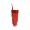 AS Plastic Tumbler in red