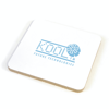 Square Cork Coloured Coaster in white