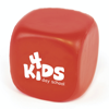 Cube shaped PU stress toy.  A great all round giveaway for an number of promotions.  Not use it to promote a kids play centre, include it in a Fresher's week giveaway or the openin in red