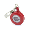 Domed Ski Pass Holder in red