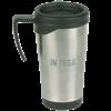 Travel Mug in brushed-chrome