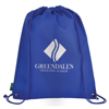 Eco-Friendly Drawstring Bag in blue