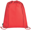 Eco-Friendly Drawstring Bag in red