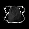 Economy Drawstring Bag in black