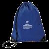 Economy Drawstring Bag in royal-blue