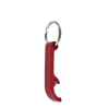 Metal Bottle Opener Keyring in red