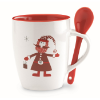 Mug with spoon in multicolour
