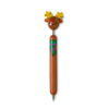 Ball pen with Xmas motifs in brown