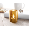 Candle holder with tealight in champagne