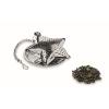 Tea filter in star shape in matt-silver