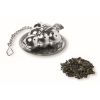 Tea filter in tree shape in matt-silver