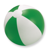 Inflatable beach ball in green