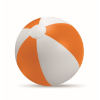 Inflatable beach ball in orange