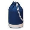 Cotton duffle bag bicolour      in blue