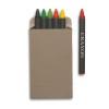 Carton of 6 wax crayons in multicolour