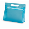 Transparent cosmetic pouch in blue