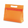 Transparent cosmetic pouch in orange