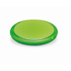 Rounded double compact mirror in transparent-lime