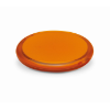 Rounded double compact mirror in transparent-orange