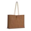Jute Shopper Bag W/ Handles in brown