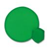 Foldable frisbee in pouch       in green