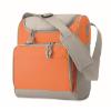 Cooler bag with front pocket in orange