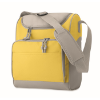 Cooler bag with front pocket in yellow