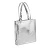 Metallic Vertical Shopper in shiny-silver