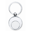 Metal key ring with token       in shiny-silver