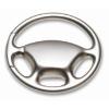 Metal key ring wheel shape      in matt-silver