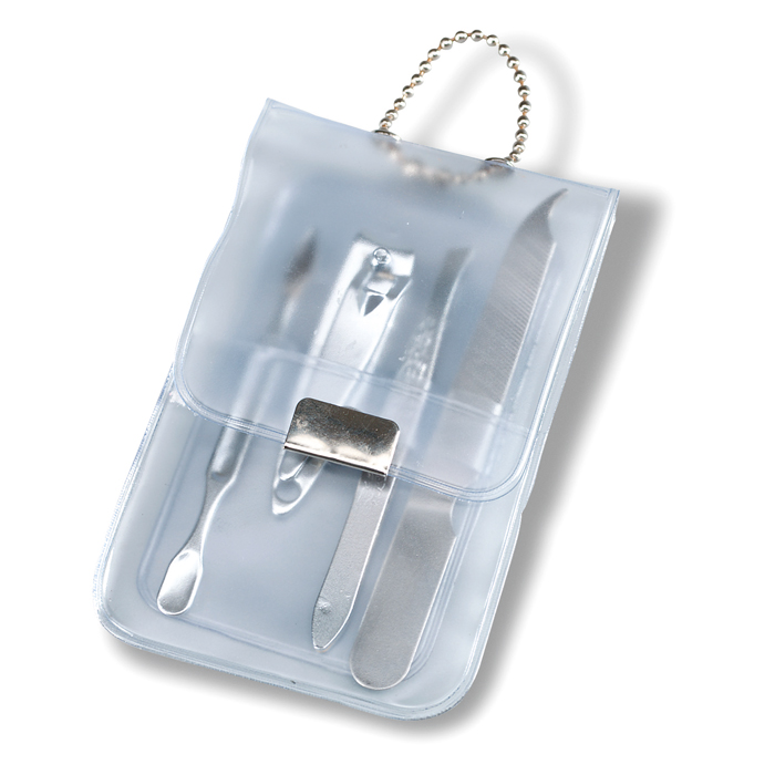 Manicure Set in transparent-white