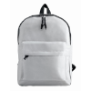 600D Polyester Backpack in white