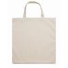 Shopping Bag W/ Short Handles in beige