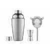Cocktail set in shiny-silver
