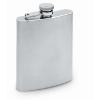 Slim hip flask in matt-silver