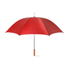 Golf Umbrella With Wooden Grip in red