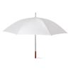 Golf Umbrella With Wooden Grip in white